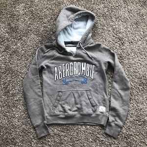 Tops - A&F Taupe Hooded Sweatshirt